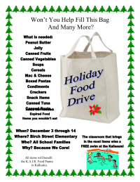 Canned Food Drive flier