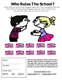 Boys vs Girls, Who Rules The School Collection Sheet