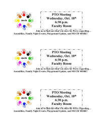 PTO Meeting Reminder - Join Us