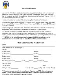 Ryan Elementary PTO Flat donation drive