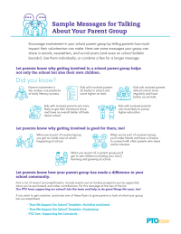 Sample Messages for Talking About Your Parent Group