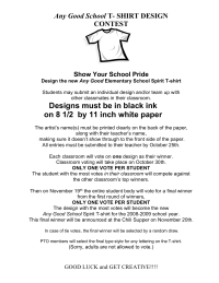 School Spirit T-shirt contest