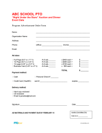 PTO Today: Ad Order Form