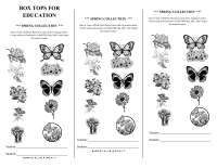 Spring 10 count collection sheet