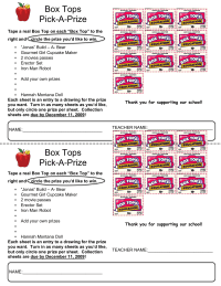Entry Sheet for A Prize Drawing Editable