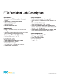 PTO President Job Description