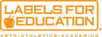 Labels for Education Logo - Orange & White