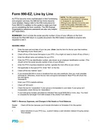 PTO Today: IRS Form 990-EZ Line-by-Line Description
