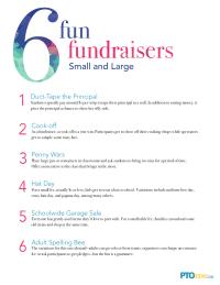6 Fun Fundraisers