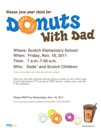 Doughnuts With Dad Poster