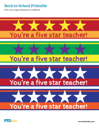 Back-to-School Notebook Gift Tag for Teachers