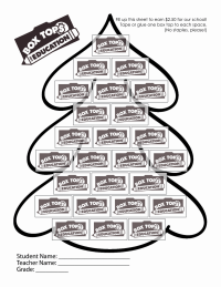 Christmas Tree Collection Sheet
