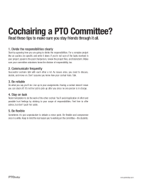 PTO Today: Cochair Tips for Success