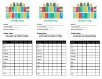 Holiday Shop Budget Envelope Label: Santa's Workshop