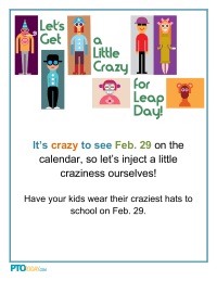 Crazy Day Flyer for Leap Day