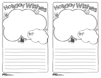 Holiday Wishes Activity Template
