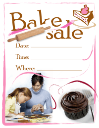 PTO Today: Bake Sale flyer (color)