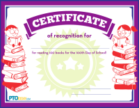 Certificate for Reading 100 Books