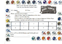 Football collection sheet