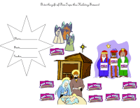 Nativity scene collection sheet 10 spaces