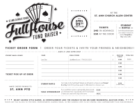 Full House Fundraiser Ticket Order Form