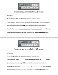 Labels for Education Teacher Letter