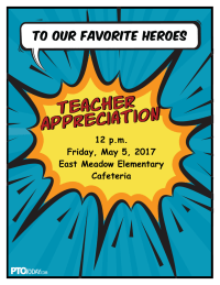 Superhero Teacher Appreciation Invitation
