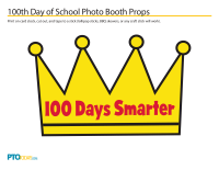 100 Days of School Photo Booth Prop Templates