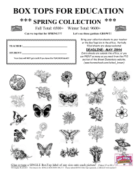 Spring 25 count collection sheet