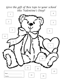 Valentine's Day Bear - 15 count