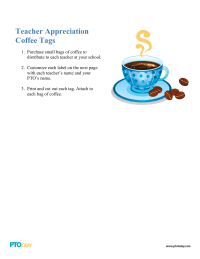 PTO Today: Teacher Appreciation Coffee Tags