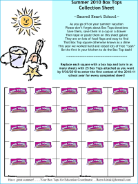 Summer collection sheet/ 25 box tops