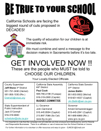 Color California Budget Cuts Parent Involvement