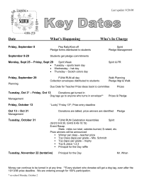 Fun Run - Key Dates in Planning