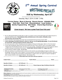 Wristband Pre-Sales Form