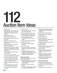 PTO Today: 112 Suggested Auction Items