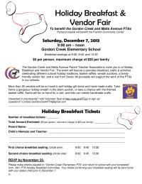 Holiday Breakfast Flyer