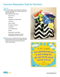 Summer Relaxation Tote for Teacher Appreciation