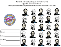 Presidents day collection sheet