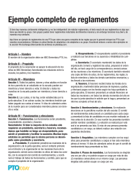 Complete sample bylaws in spanish ejemplo completo de for Pta bylaws template