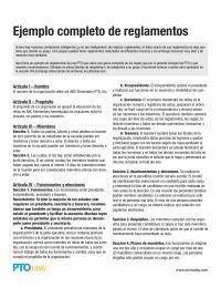 Complete Sample Bylaws in Spanish (Ejemplo Completo de Reglamentos)