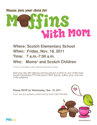 Muffins With Mom Poster