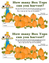 How many Box Tops can you harvest