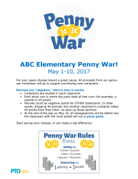 Penny War Flyer: Negative Pennies