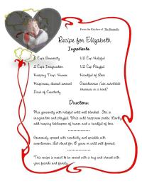 Recipe for a Kindergartner