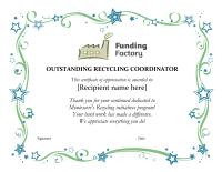 Outstanding Recycling Coordinator Certificate