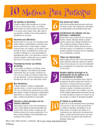 PTO Today: 10 Reasons To Get Involved - Spanish (color)