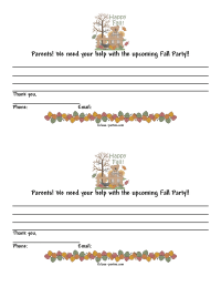 Fall Party Parent Letter 2