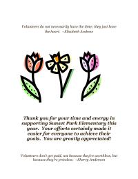 Volunteer Appreciation Letter/Flyer