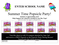 Popsicle Party Collection Sheet MS Word Editable